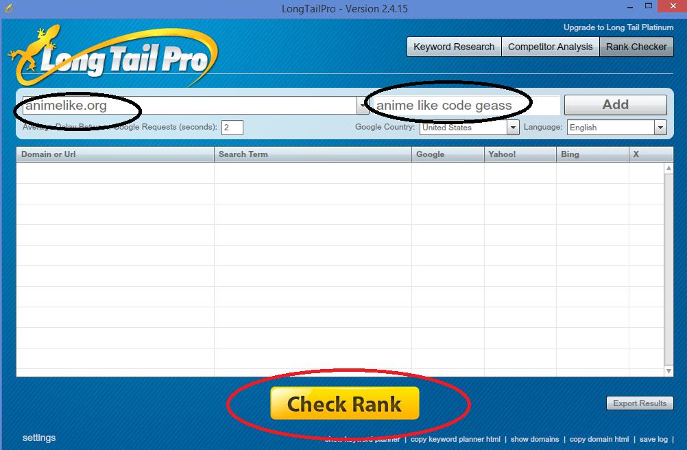 Longtail Pro Rank Checker
