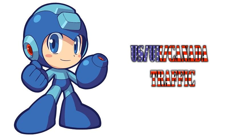 Megaman - US+UK+Canada Traffic
