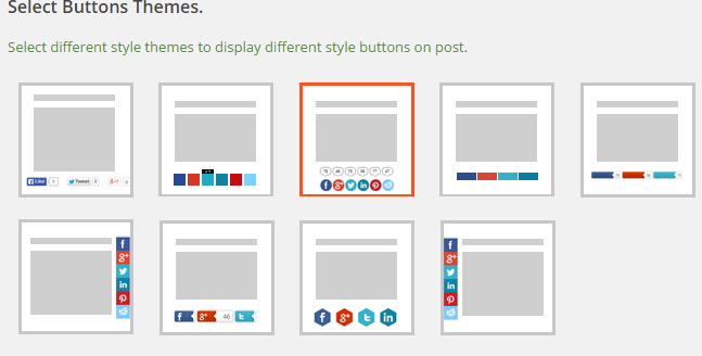 Social Sharing Button Settings