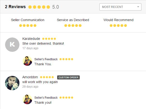Fiverr Rating Feedback