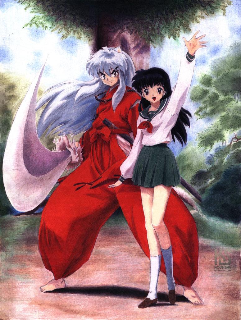 Inuyasha Kagome And Inuyasha Top 30 Cute Anime Coup...