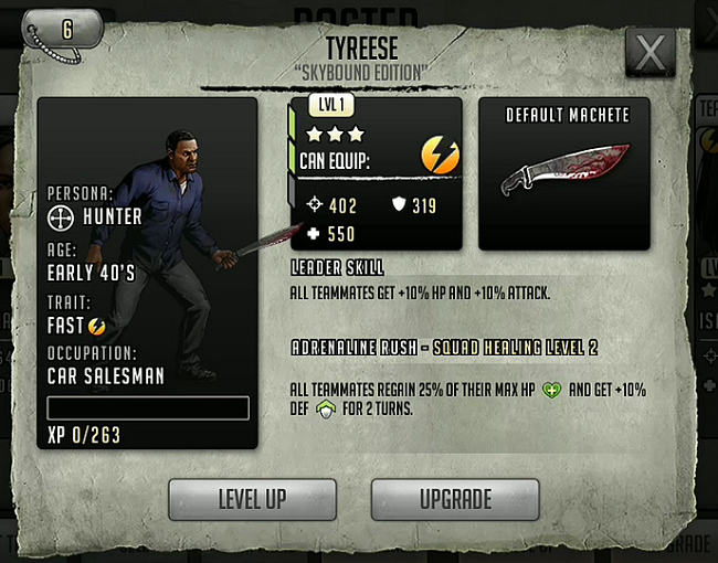TWD Character Stat