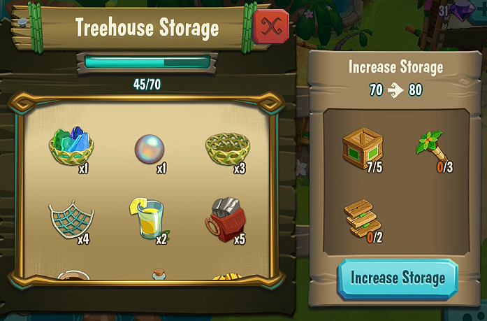 Treehouse Storage Upgrade