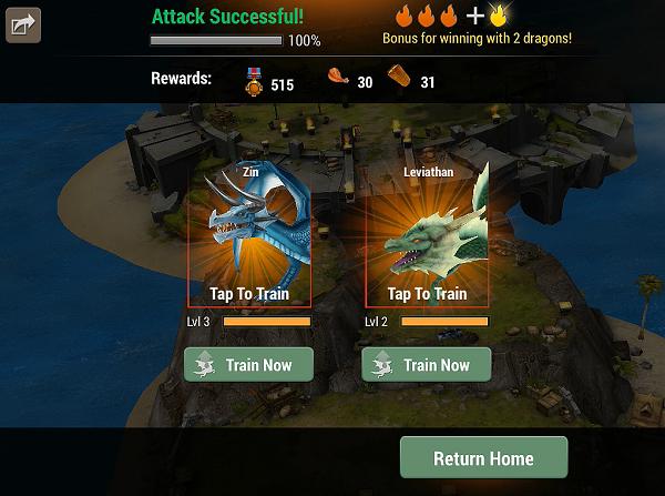 War Dragons Battle Success