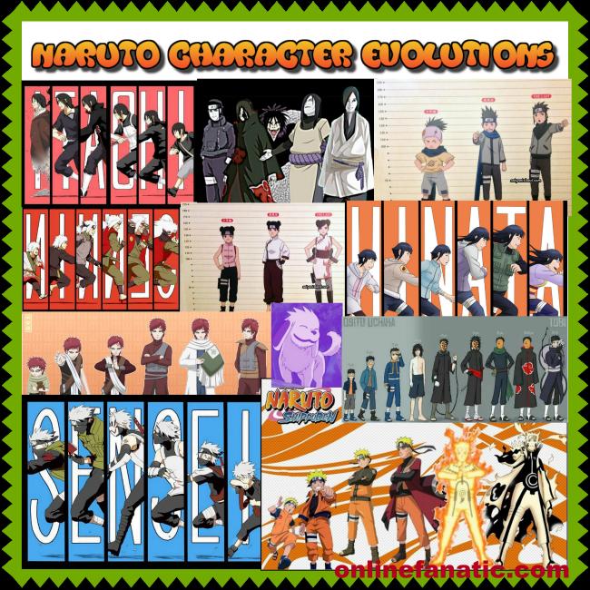 Naruto Character Evolutions