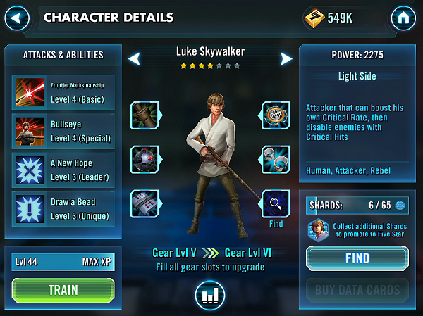 SWGOH Luke Skywalker Review