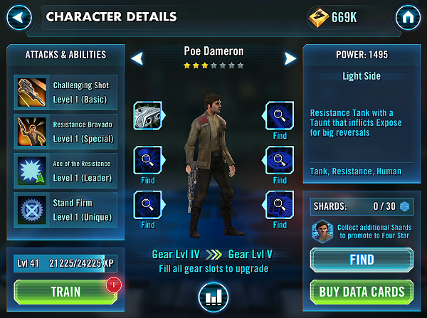 SWGOH Poe Dameron Review