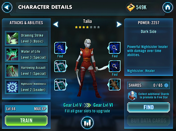 SWGOH Talia Review
