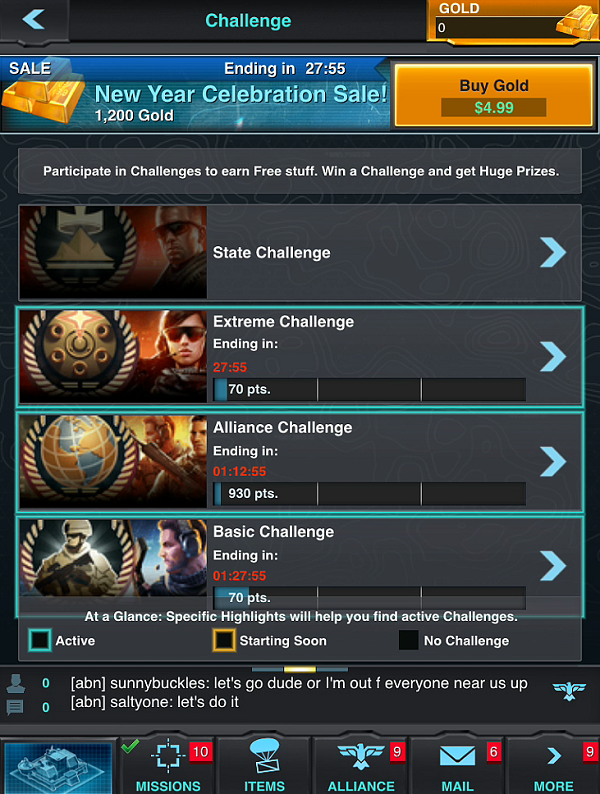 Mobile Strike Challenge Guide