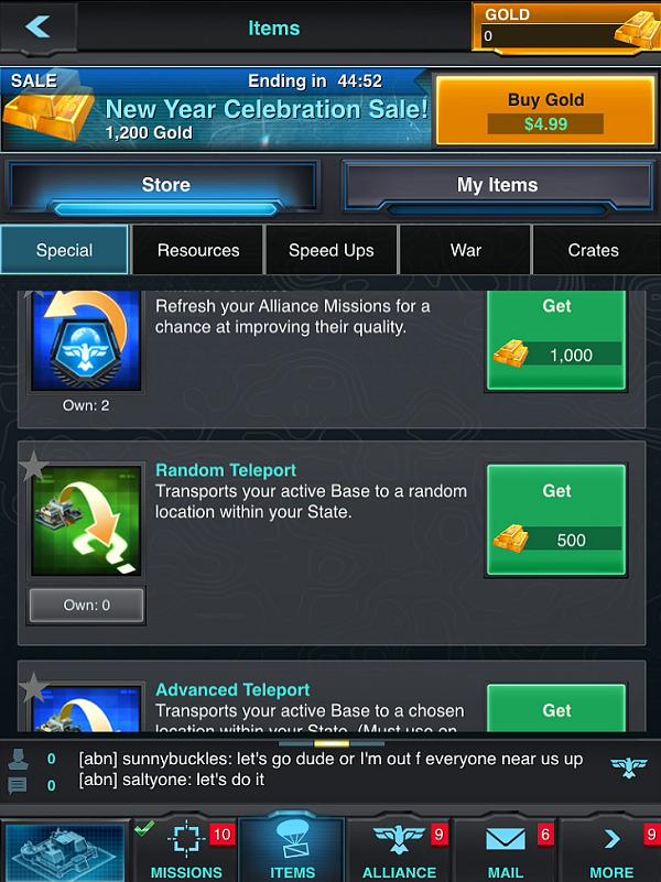 Mobile Strike Random Teleport