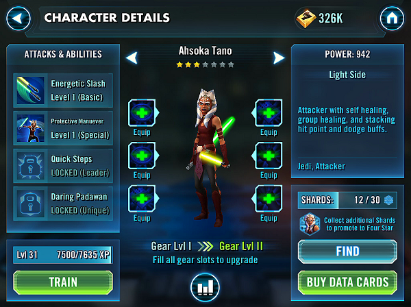 SWGOH Ahsoka Tano Review
