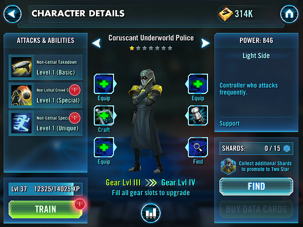 SWGOH Coruscant Underworld Police Review