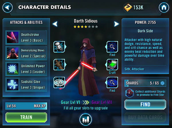SWGOH Darth Sidious Review
