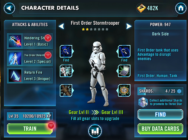 SWGOH First Order Stormtrooper Review