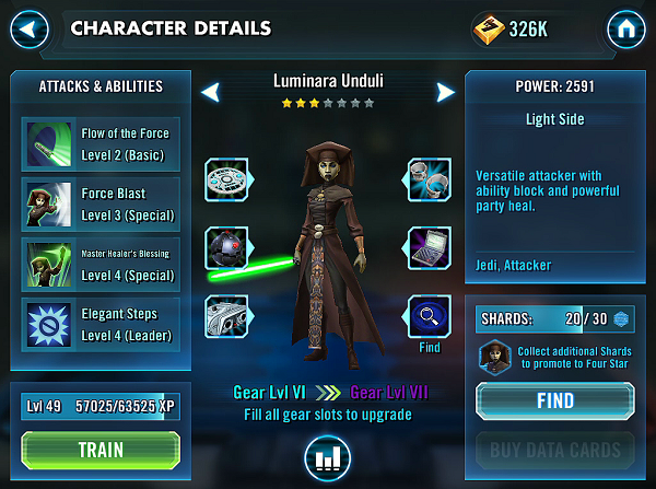 SWGOH IG-86 Luminara Unduli Review
