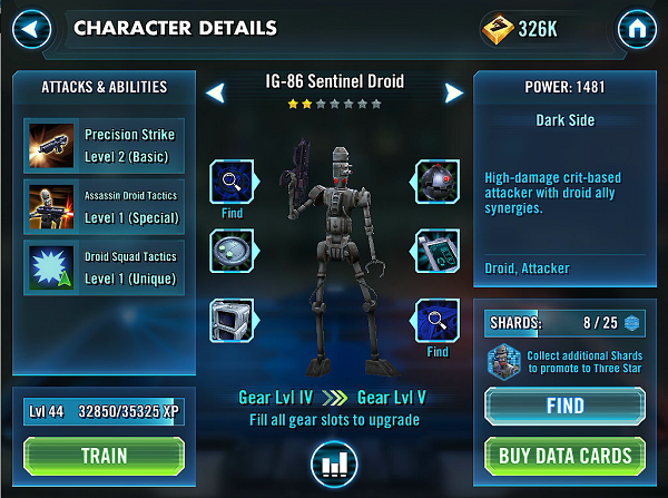 SWGOH IG-86 Sentinel Droid Review