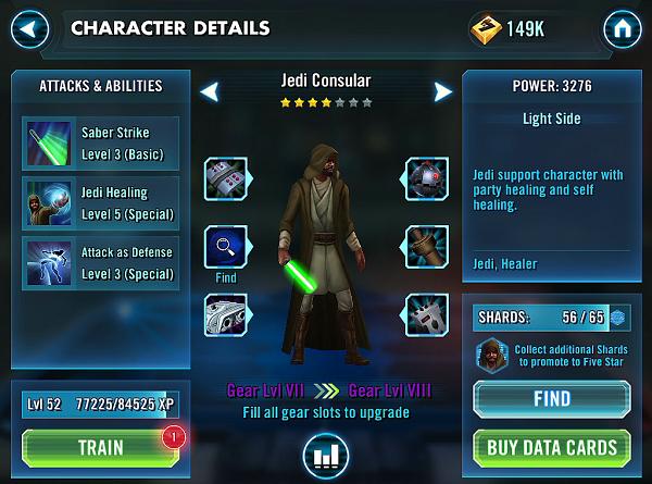 SWGOH Jedi Consular Epic Gear