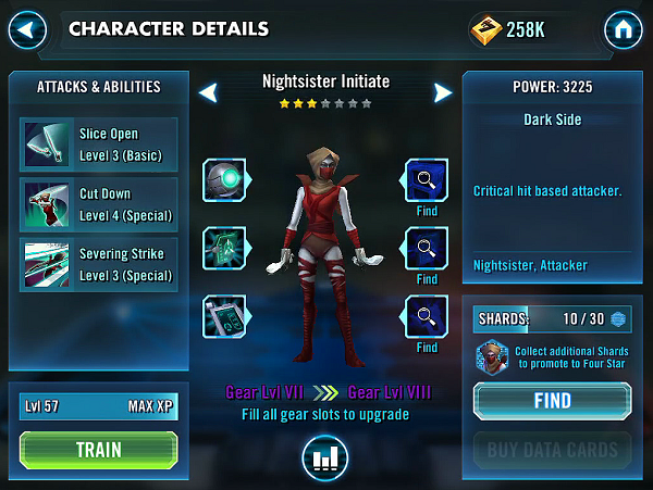 SWGOH Nightsister Initiate Review 1