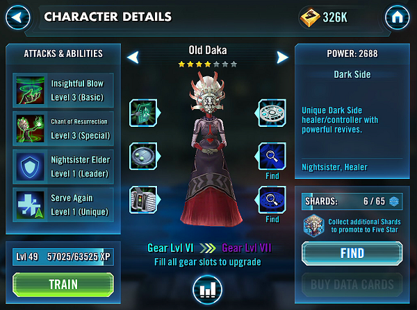 SWGOH Old Daka Review
