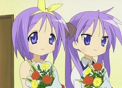 Tsukasa and Kagami Hiiragi