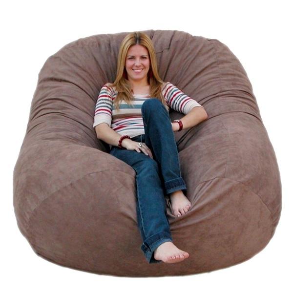 6-Feet Cozy Sack Bean-Bag Chair, Large, Earth