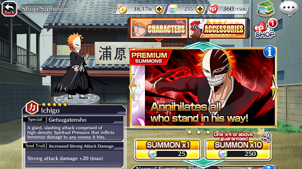 Bleach Brave Souls Summons