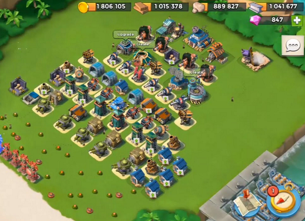 Boom Beach Battle