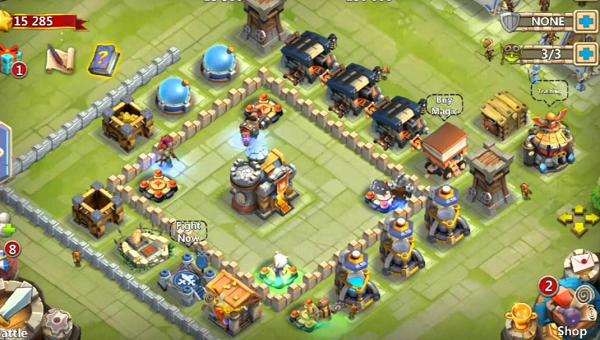 Castle Clash Age of Legends Battle