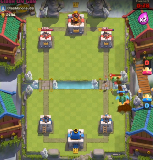 Clash Royale Fight on Your Side of the Map
