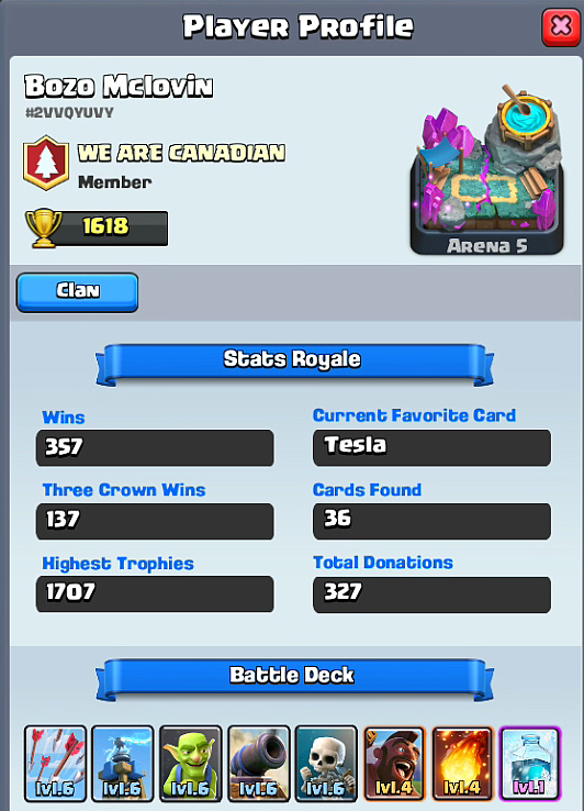 Hog Rider + Freeze Deck Profile
