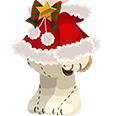 White Santa Bear