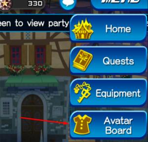 Kingdom hearts Unlimted X Avatar Board location