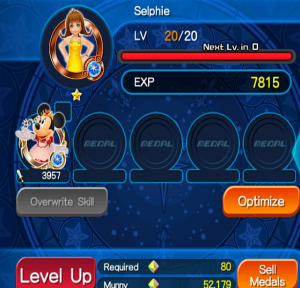 Kingdom hearts Unlimted X Medal level