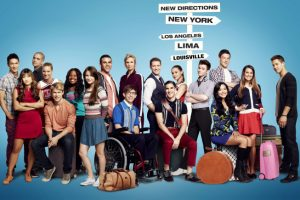 GLEE: Season Four premiere episode of Glee debuts on a new night and time Thursday, Sept. 13 (9:00-10:00 pm ET/PT) on Fox. Pictured L-R: Harry Shum Jr., Jenna Ushkowitz, Mark Salling, Heather Morris, Chord Overstreet, Amber Riley, Melissa Benoist, Jacob Artist, Kevin McHale, Jane Lynch, Matthew Morrison, Darren Criss, Becca Tobin, Chris Colfer, Naya Rivera, Cory Monteith, Lea Michele and Dean Geyer. CR: Kwaku Alston / FOX.