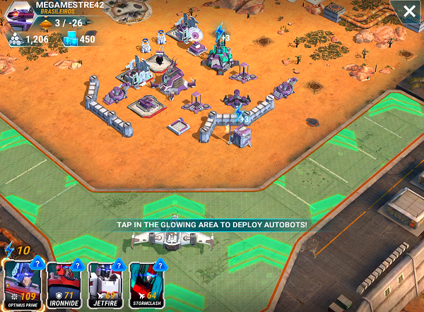 Transformers Earth Wars Attacking