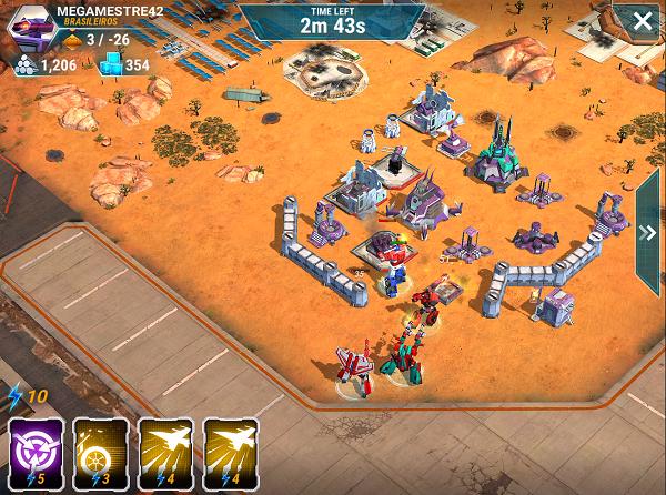 Transformers Earth Wars Using Skills