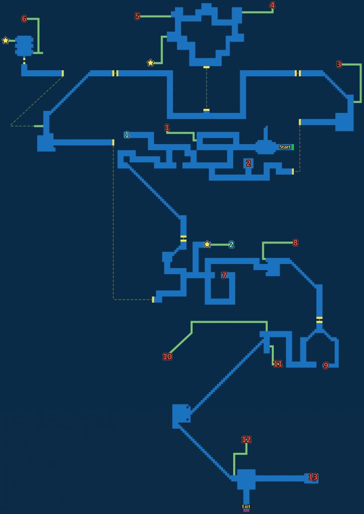 FFBE Lanzelt Ruins Exploration Map