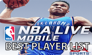 nba live MOBILE list