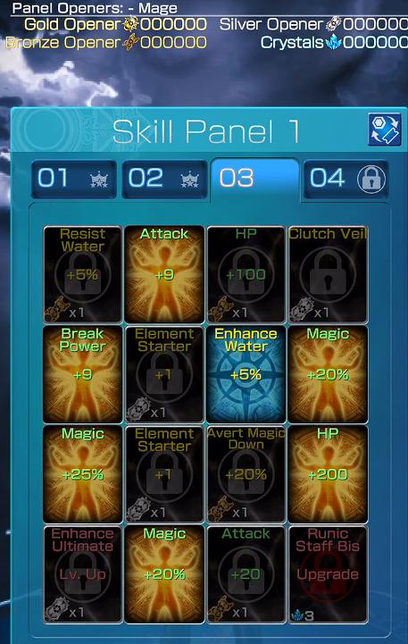 Mobius FF Skill Panel