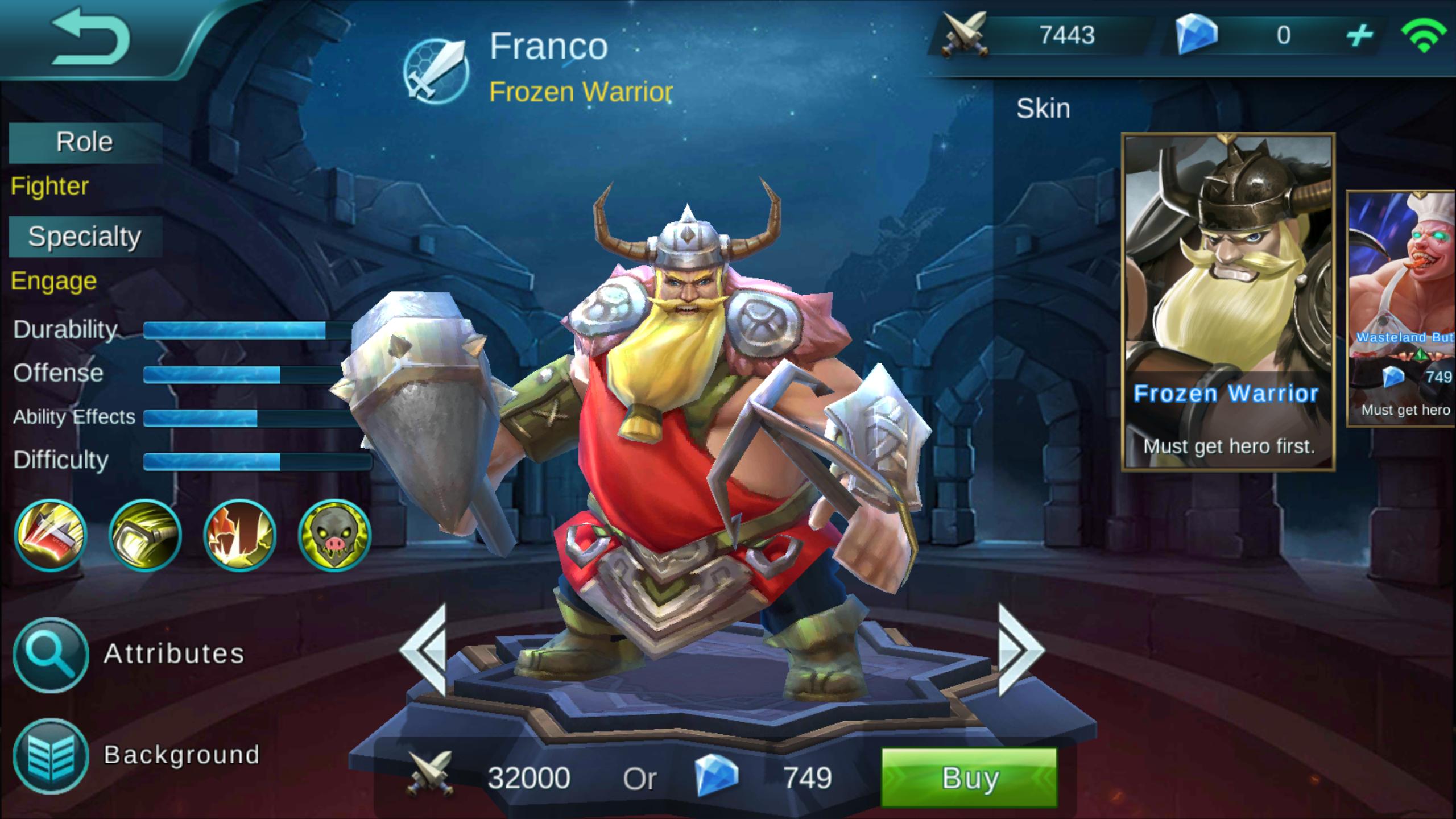 Franco Frozen Warrior Review [Mobile Legends Bang Bang